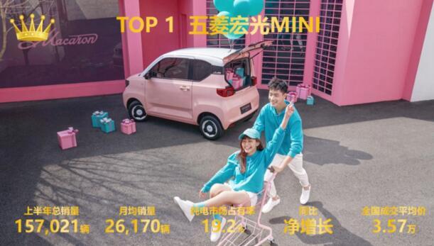 2021年上半年中国新能源纯电汽车市场销量排行榜